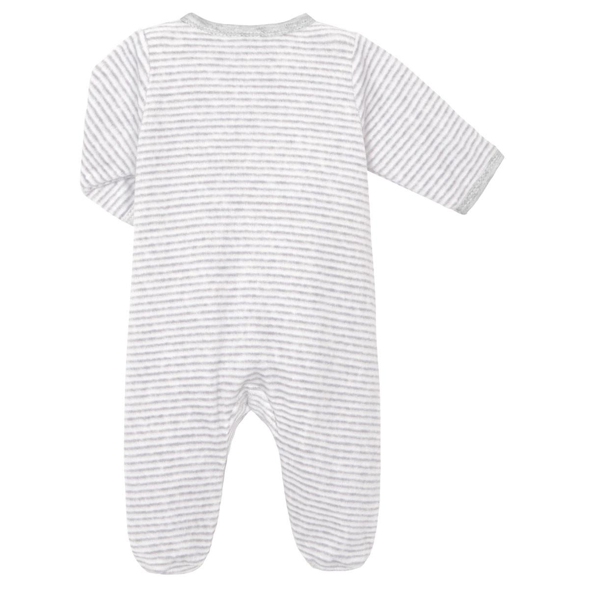 Pyjama bébé velours mixte With Love dos