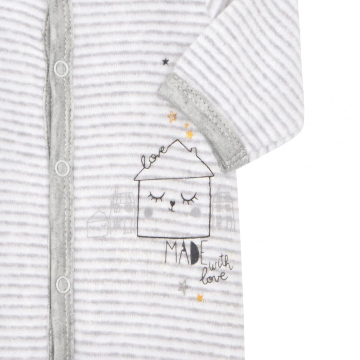 Pyjama bébé velours mixte With Love zoom