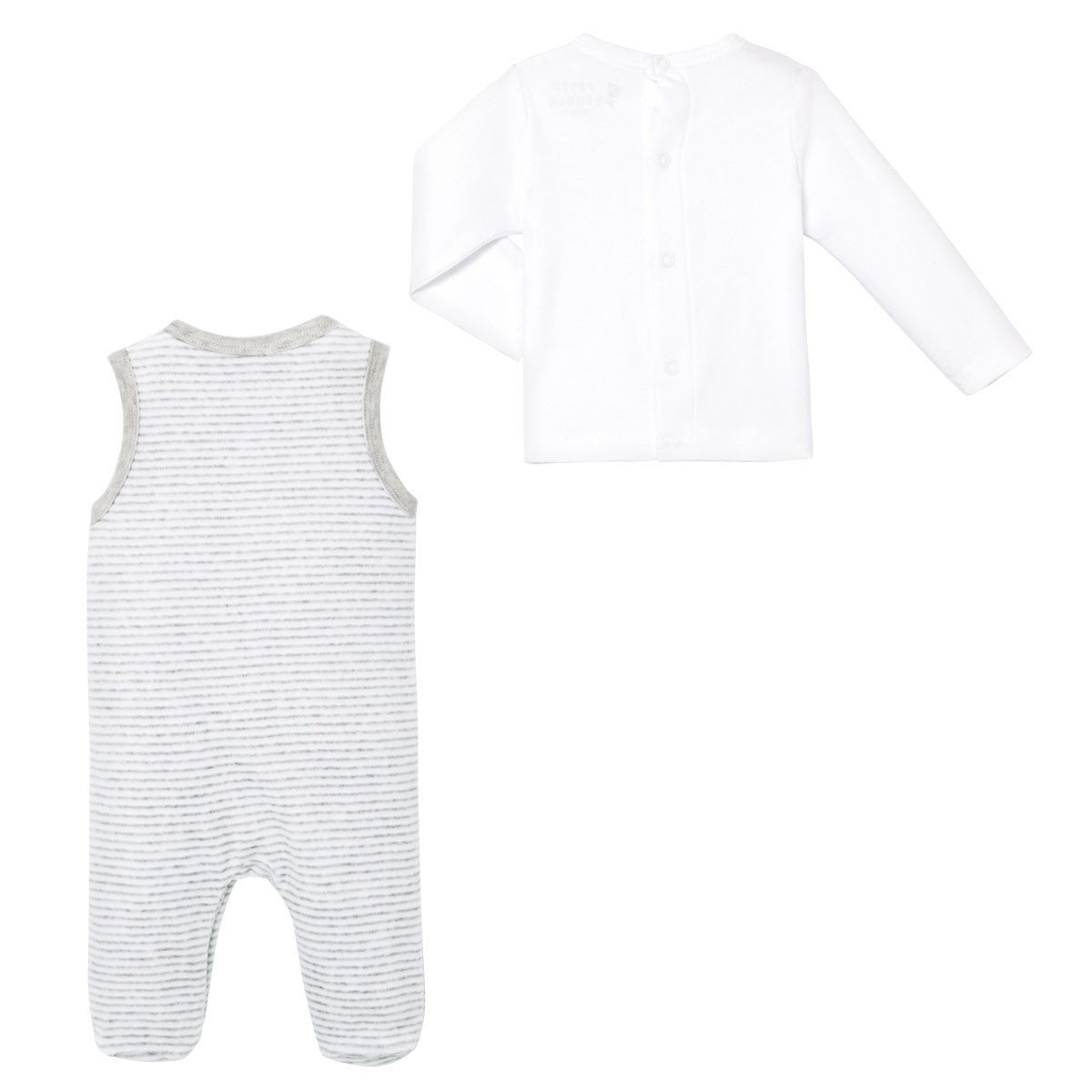 Ensemble salopette velours + T-shirt coton bébé mixte With Love  dos
