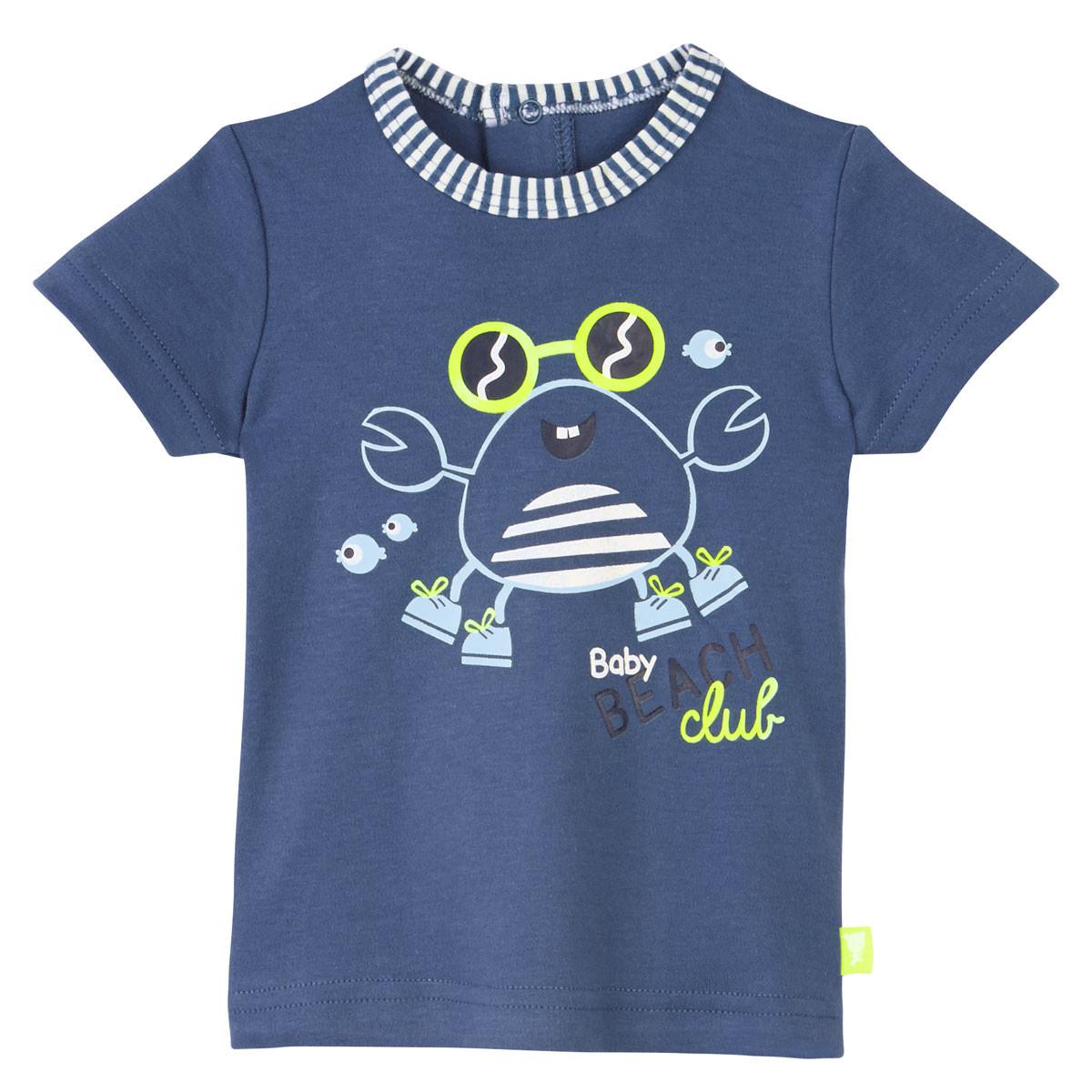 Tee-shirt bleu bébé Baby Beach Club