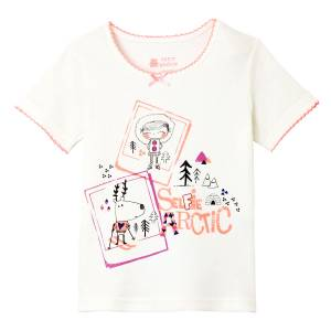 Tee shirt fille manches courtes Selfie Artic girl