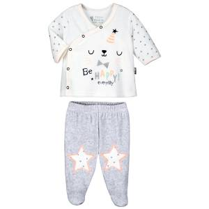 Pyjama bébé 2 pièces velours Hello