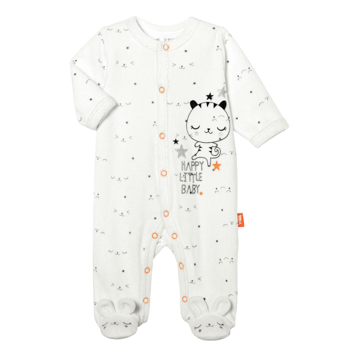 Pyjama bébé velours Little Baby