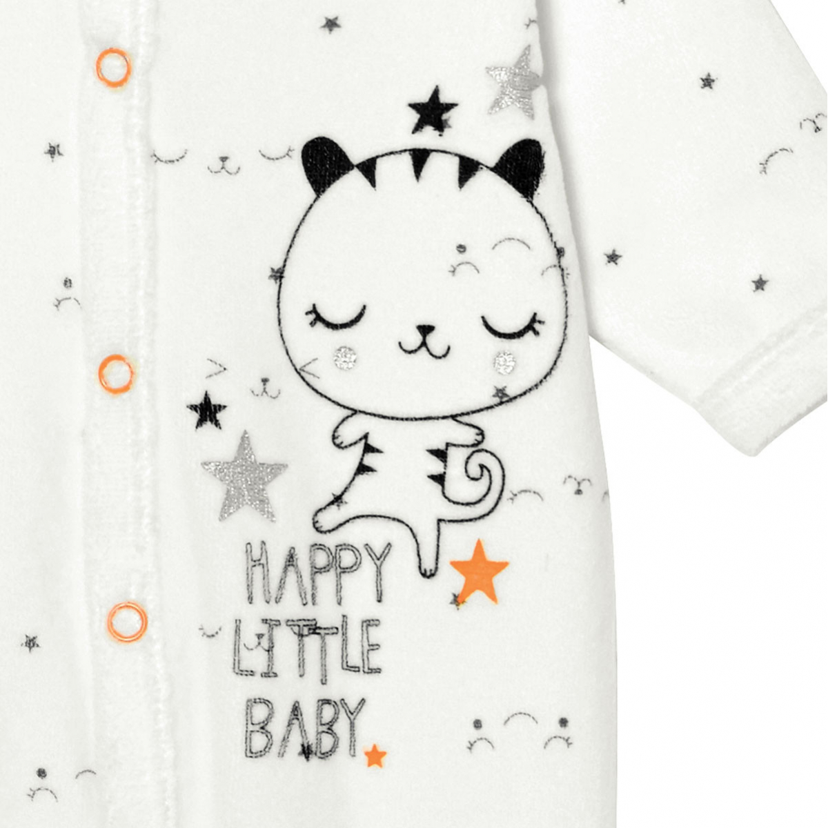 Pyjama bébé velours Little Baby zoom
