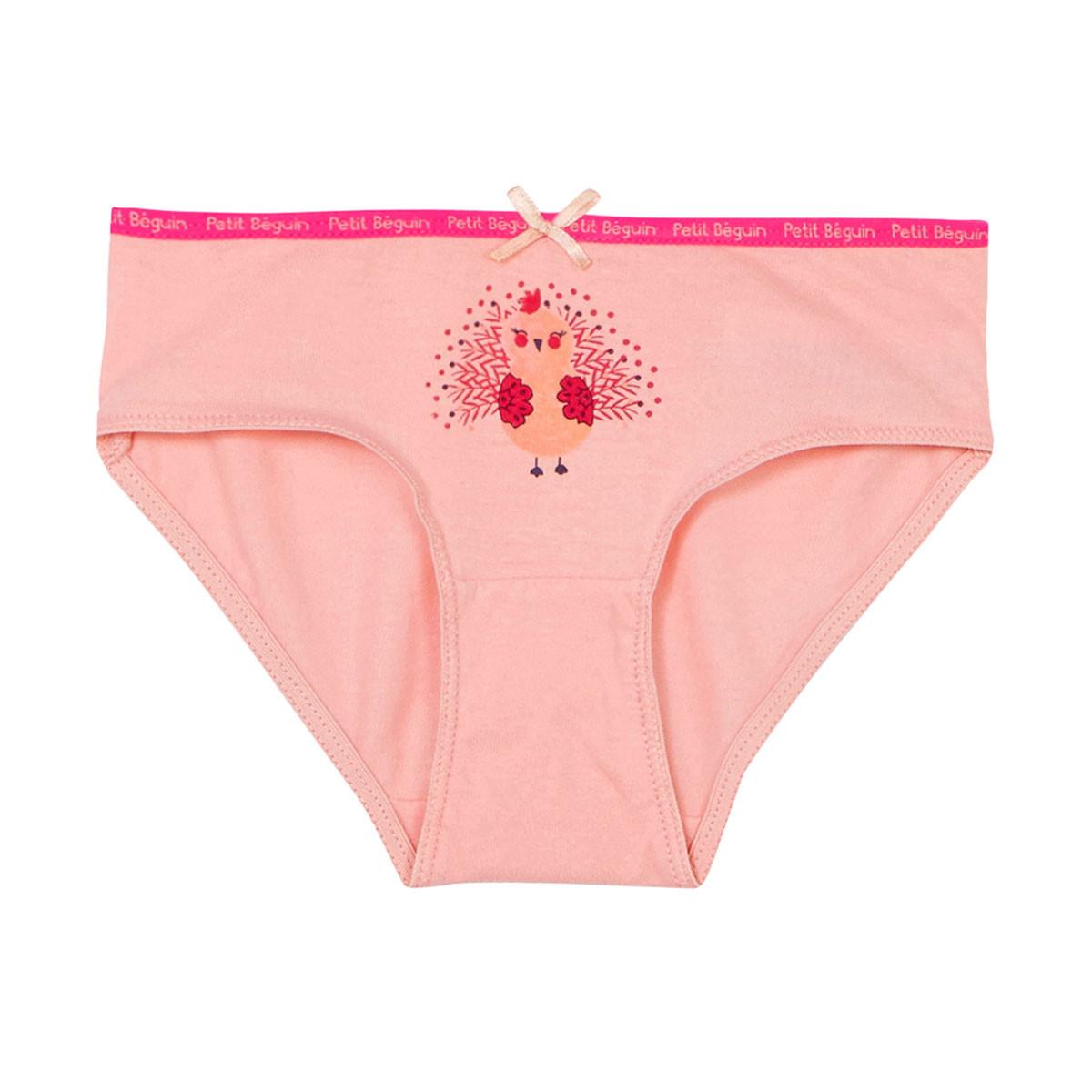 Lot de 3 culottes fille Brazilia rose