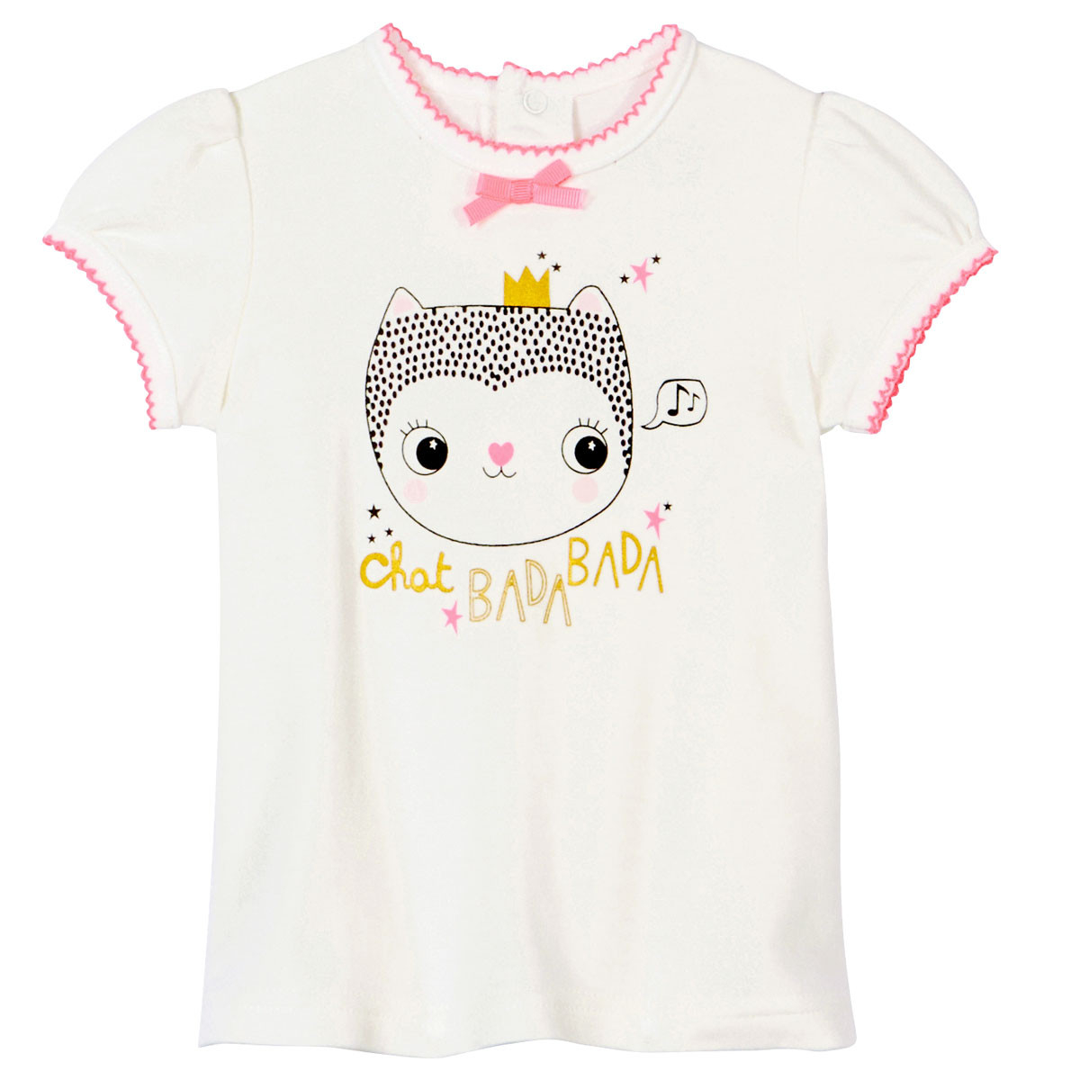 Ensemble bébé fille t-shirt + sarouel Chatbada