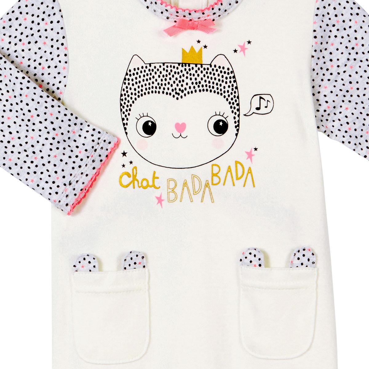 Pyjama bébé fille Chatbada zoom sur les poches