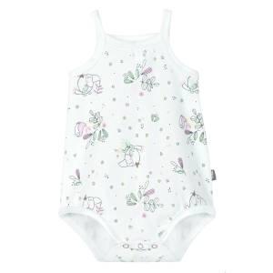 Body à bretelles bébé fille blanc Tropical Bird