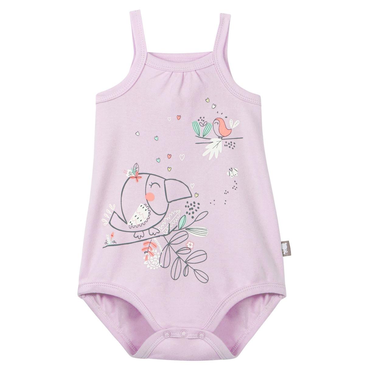 Body à bretelles bébé fille rose Tropical Bird