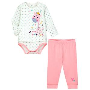 Ensemble bébé fille body tunique + legging Misslala