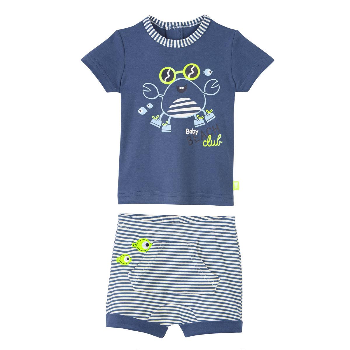 Ensemble bébé garçon t-shirt + short Baby Beach Club