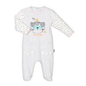 Pyjama bébé Mini Bandit gris clair