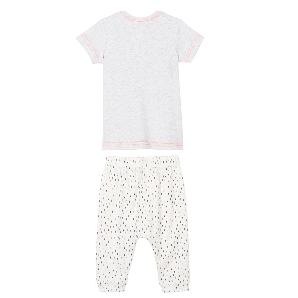 Ensemble bébé garçon t-shirt + sarouel Mini Bandit dos
