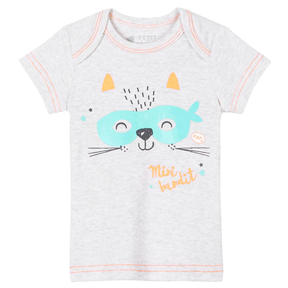 Tee-shirt gris bébé Mini Bandit