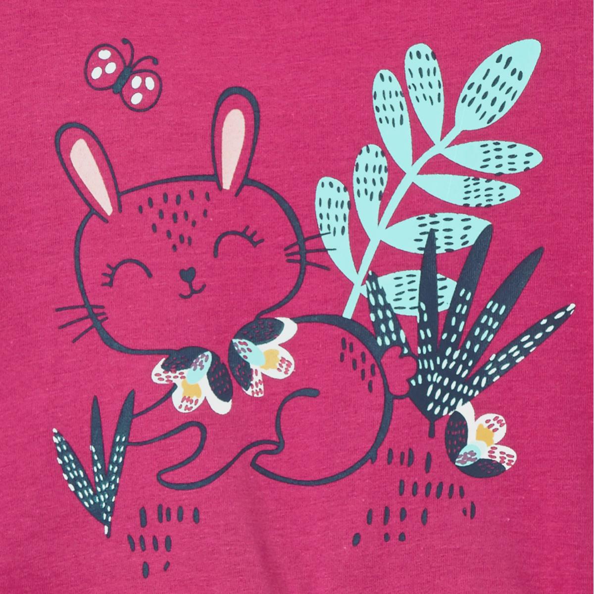 Barboteuse bébé fille Pink Bunny zoom sur le lapin