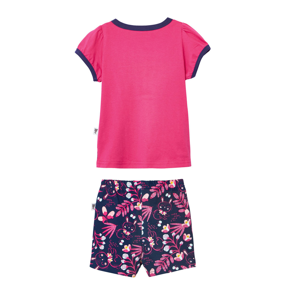 Pyjama manches courtes fille Pink Bunny