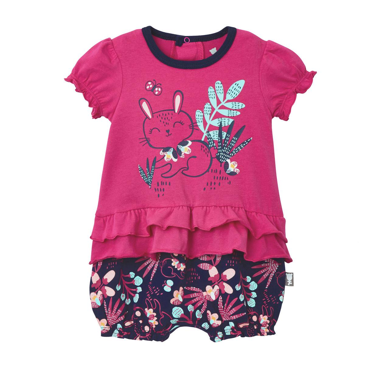 c7f7aee58193b Barboteuse bébé fille Pink Bunny Petit Béguin  Barboteuse bébé fille Pink  Bunny rose ...