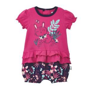 Barboteuse bébé fille Pink Bunny rose