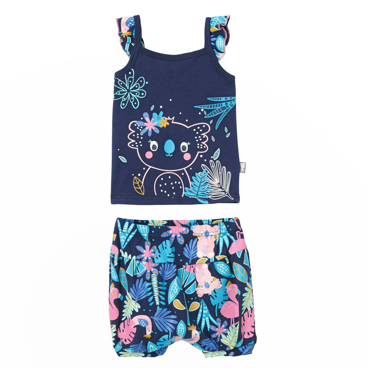 Ensemble bébé fille débardeur + short bloomer Sao