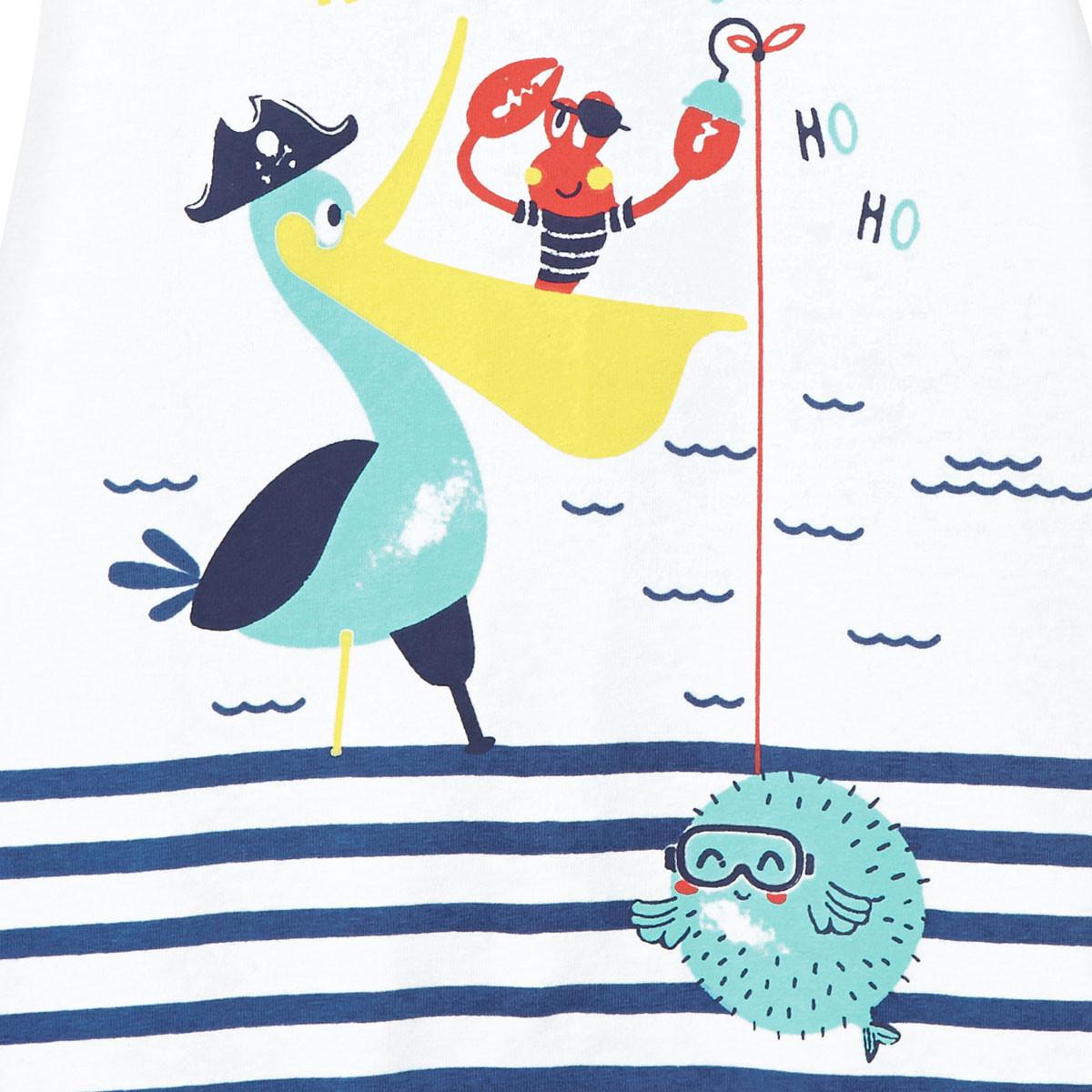 Barboteuse bébé garçon Pirate marinière