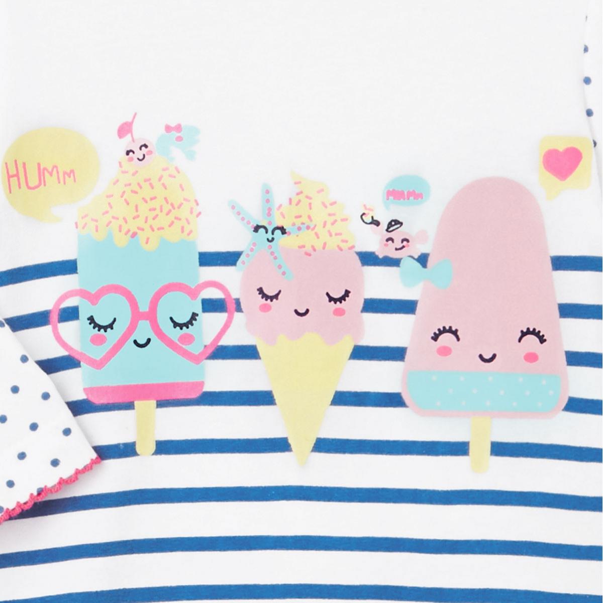 Pyjama bébé Little Sorbet zoom sur les glaces