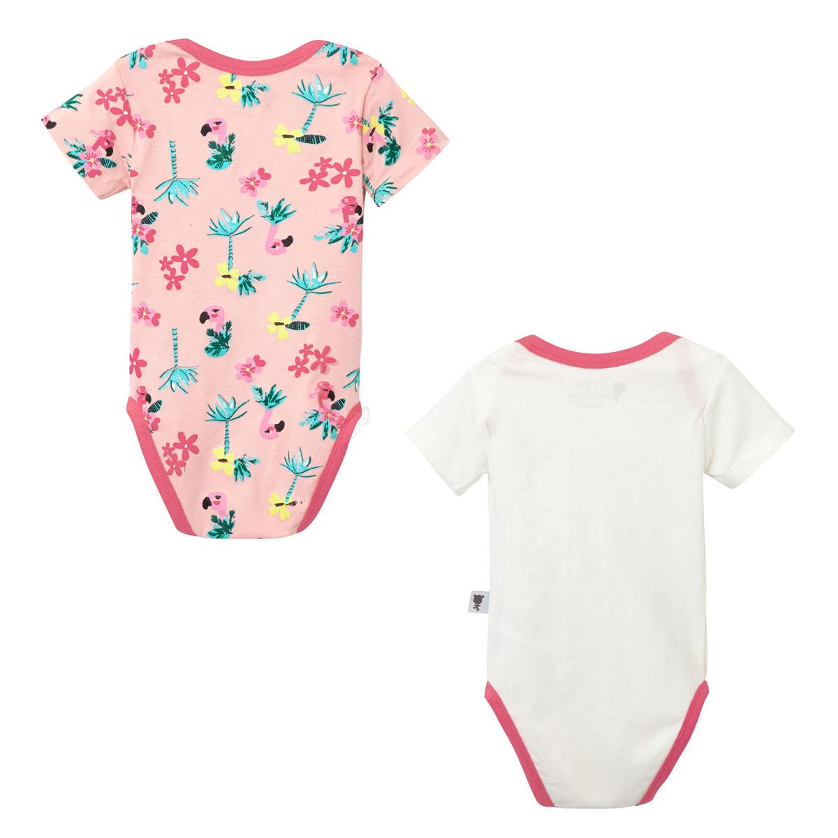 Lot de 2 bodies manches courtes bébé fille Miss Pinky dos