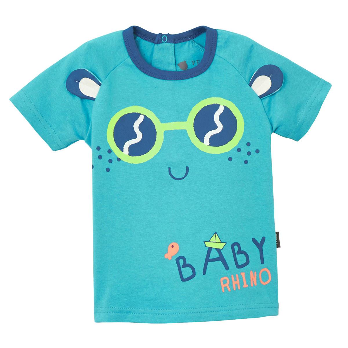 Tee-shirt bleu bébé Babyrhino