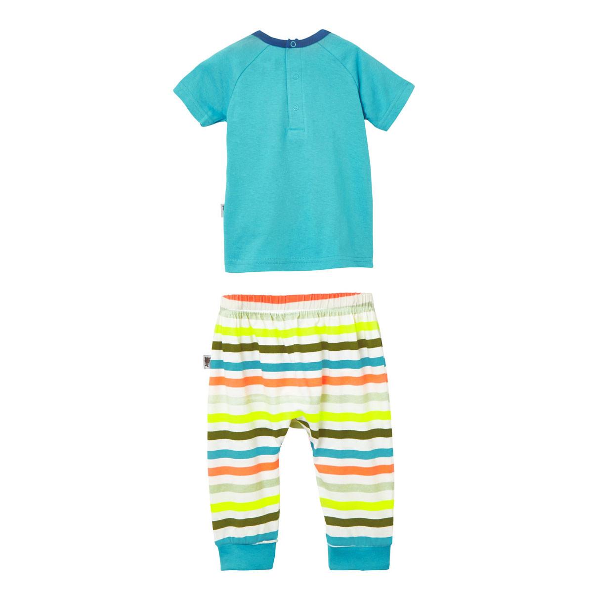 Ensemble bébé garçon t-shirt + sarouel Babyrhino