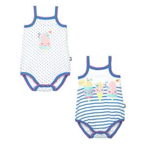 Lot de 2 bodies à bretelles bébé fille Little Sorbet