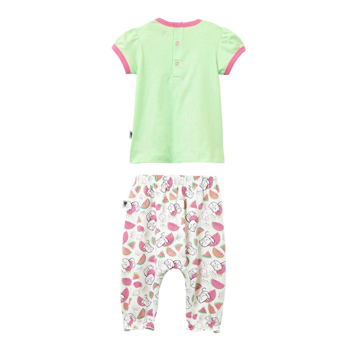 Ensemble bébé fille t-shirt + sarouel Little Fruity