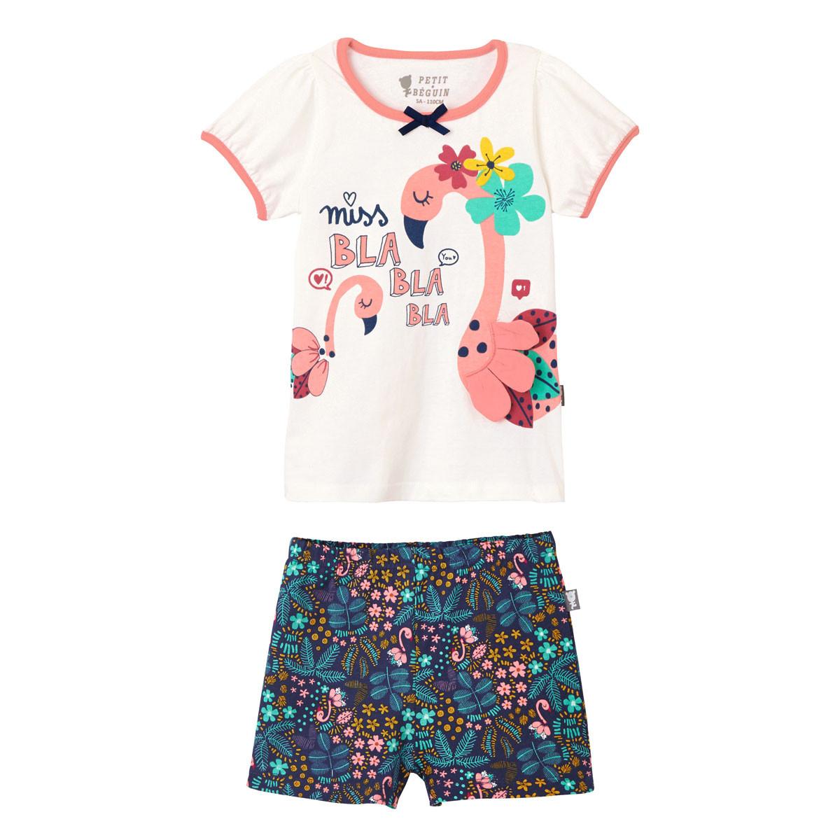 Pyjama manches courtes fille Miss Blabla