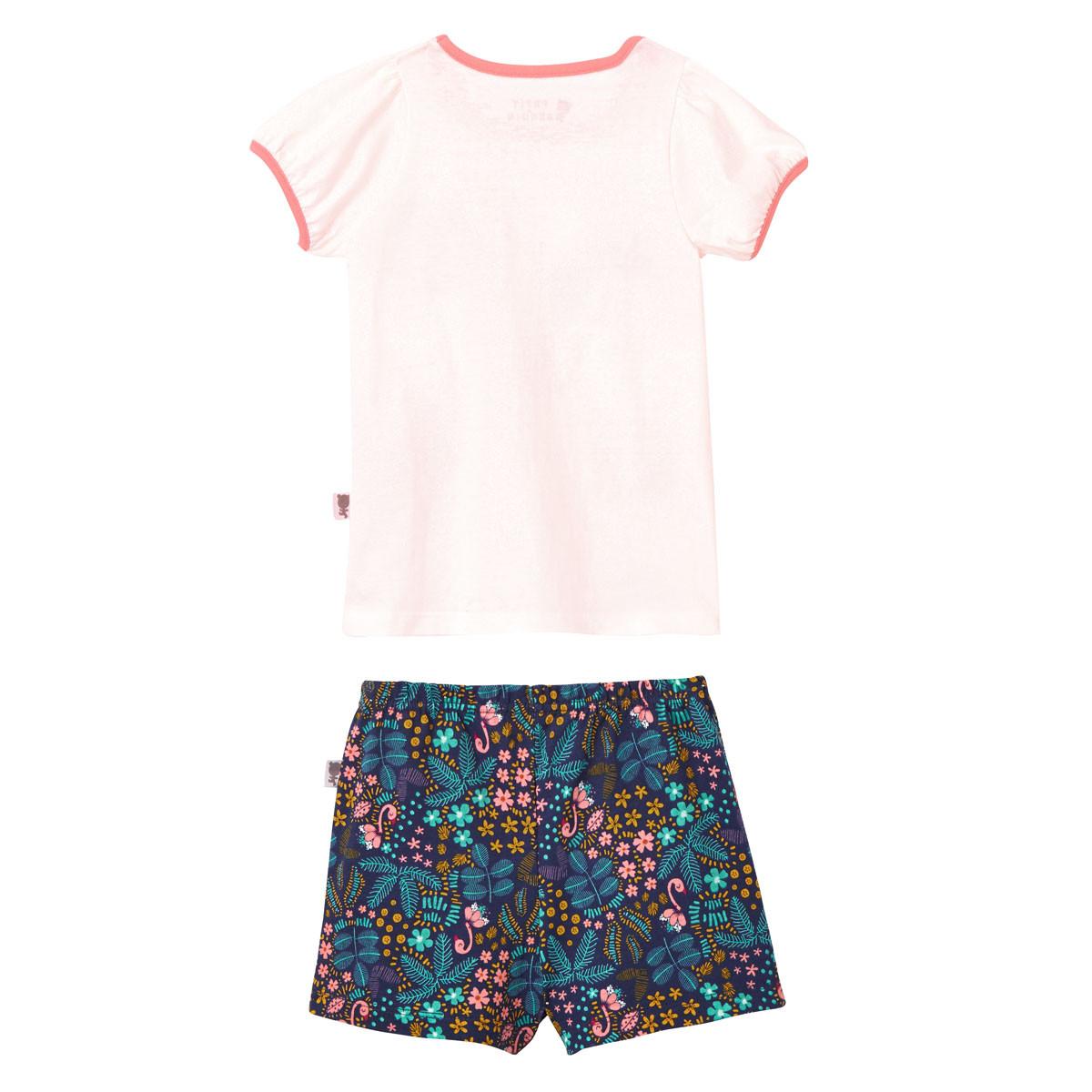 Pyjama manches courtes fille Miss Blabla dos