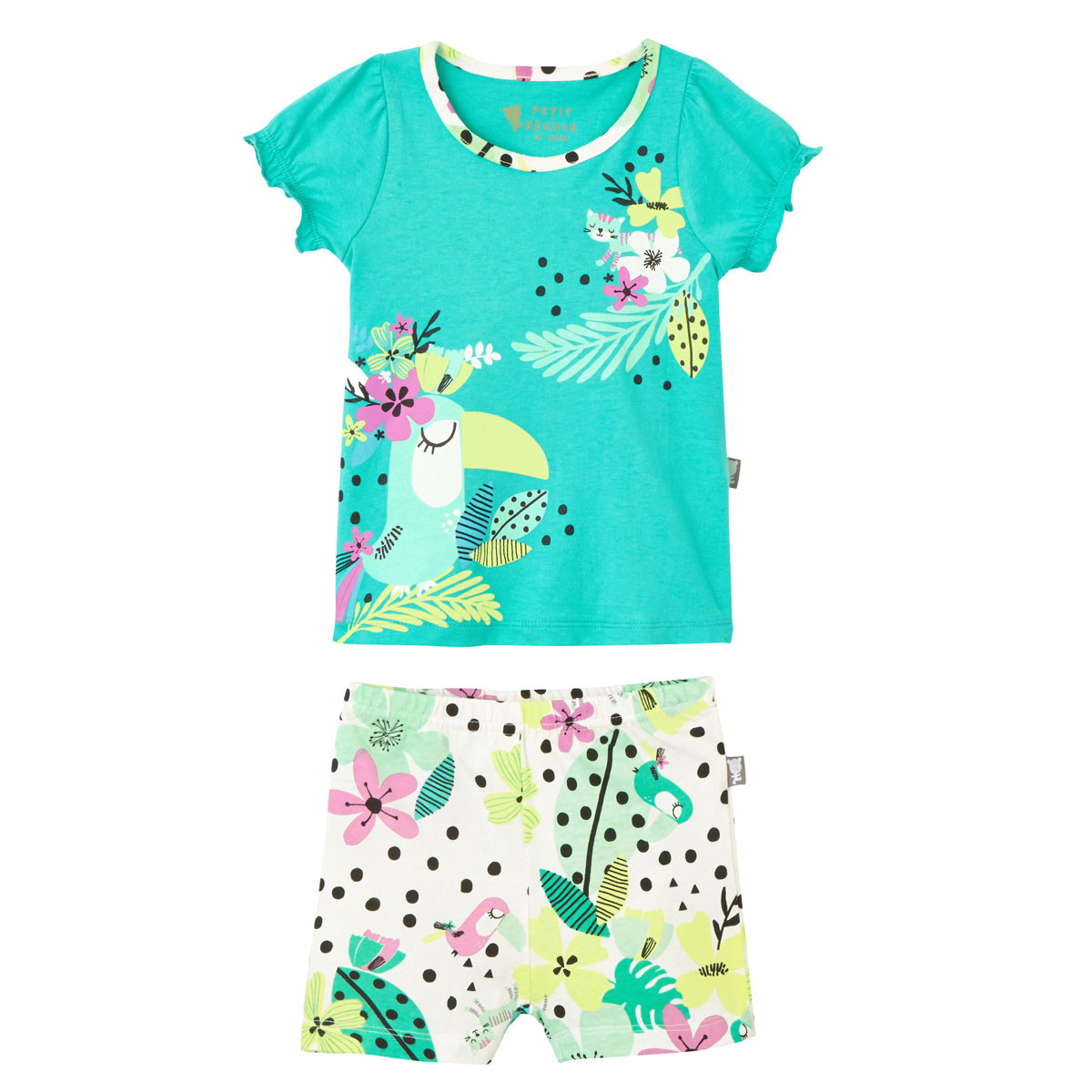 Pyjama manches courtes fille Paradisia