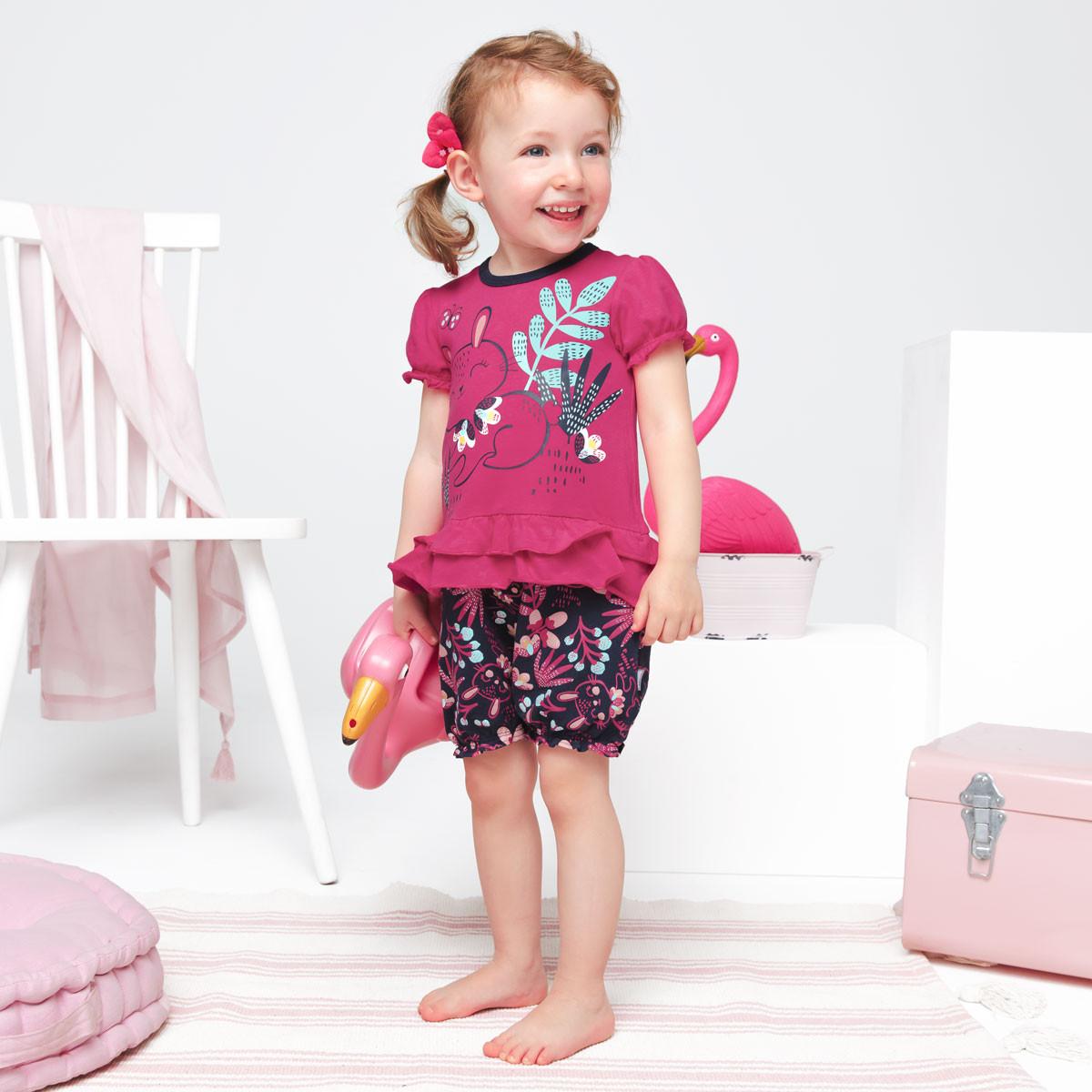 Barboteuse bébé fille Pink Bunny Petit Béguin