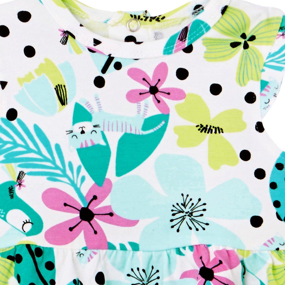 Robe bébé fille Paradisia zoom sur les fleurs