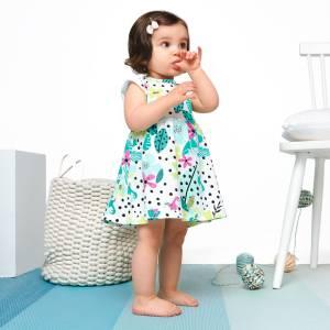 Robe bébé fille Paradisia à fleurs