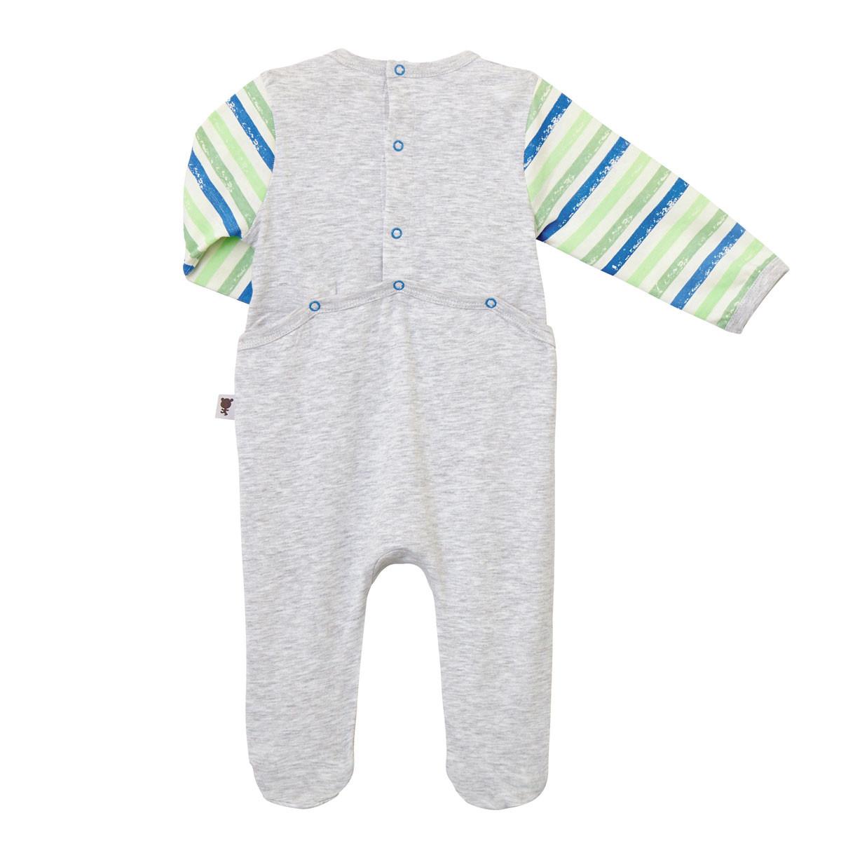 Pyjama gris bébé Ramollo dos