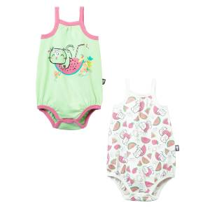 Lot de 2 bodies à bretelles bébé fille Little Fruity