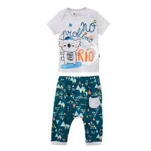 Ensemble bébé garçon t-shirt + sarouel Rio