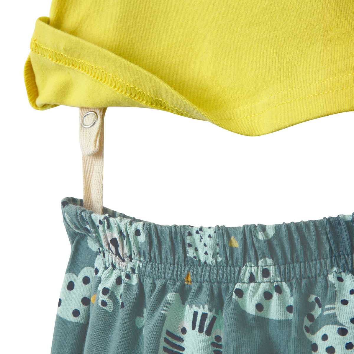 Ensemble bébé garçon t-shirt + sarouel Jumbe système d'attache tee-shirt pantalon