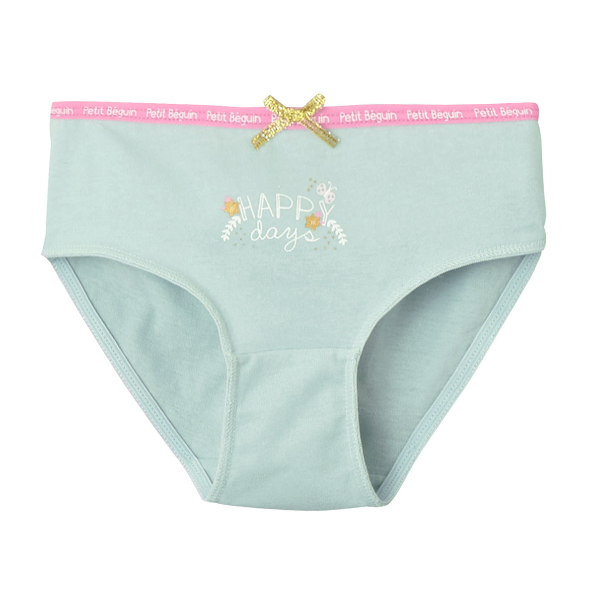 Culotte vert d'eau fille Happy Days