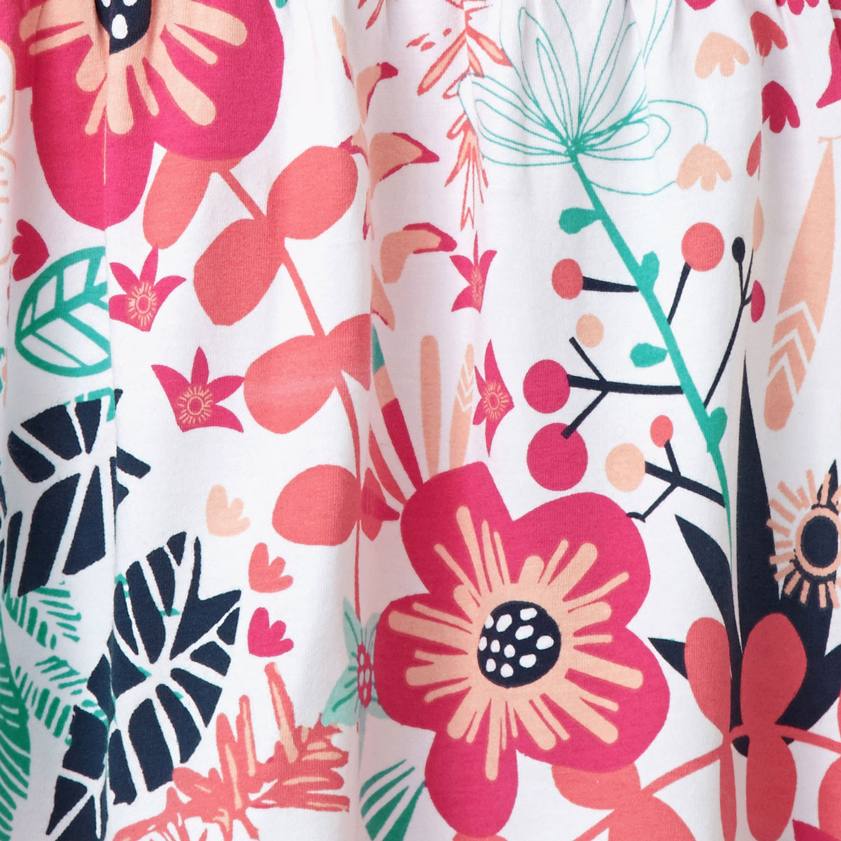 Zoom sur le motif tropical